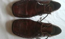 MENS RIEKER BROWN LACE UP SHOES SIZE 9