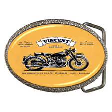 VINCENT BLACK SHADOW CLASSIC POSTER REPRO BELT BUCKLE - GREAT GIFT ITEM