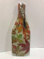CounterArt Wine Bottle Shaped 12-1/2'' Glass Cheese Board with Spreader Knife