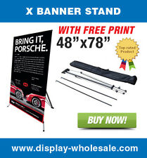 """Giant X Trade Show Banner Stand + 48""""x78"""" vinyl print"""
