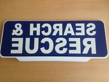 SEARCH & RESCUE BLUE with Reversed WHITE Text univisor Sign Sun visor Response