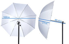 102cm Shoot-Through Brolly White Diffuser Umbrella for Studio Flash & Speedlight