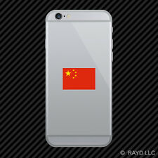 Chinese Flag Cell Phone Sticker Mobile Die Cut China