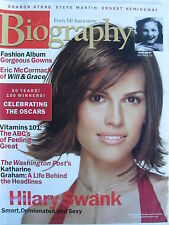 HILARY SWANK  March 2003 Biography  SHARON STONE  ERIC McCORMACK  STEVE MARTIN