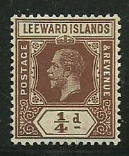 Album Treasures Leeward Islands Scott # 61  1/4p George V Mint Hinged