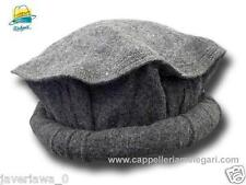 Gray color Handmade afghan pakol pakul wool hat cap topi for men and women