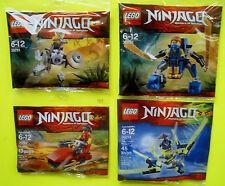 4x LEGO NINJAGO 30291 30292 30293 Kai Jay Nano Anaconda Cowler 2015 POLYBAG OVP