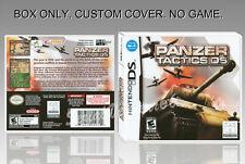 NINTENDO DS : PANZER TACTICS. FR/ENGLISH. COVER CUSTOM + ORIGINAL BOX. (NO GAME)