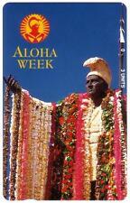 TK Telefonkarte 3u King Kamehameha Statue & 'Aloha Week' (1992)