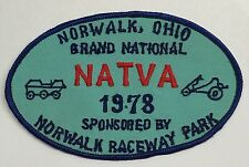 NATVA GRAND NATIONAL CLOTH PATCH-1978 NORWALK OHIO  ATTEX,HUSTLER,MAX,SCRAMBLER