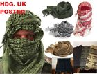 BRITISH ARMY SHEMAGH (ARAB SCARF SCRIM NET) +SKULL MANY COLOURS SAS SF SURVIVAL