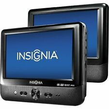 "Insignia 9"" Dual Screen Portable LCD DVD Player Car (NS-D9PDVD15) - New Other!"