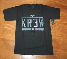 New with Tags! Men's black KREW HARD TIME Cotton T-Shirt, sz S $22.00