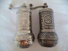 2 x Authentiqe Handmade AcarTurkish Coffee, Pepper,Salt Grinder Antique Ottoman