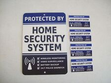 Home Security Alarm System Yard Sign & 4 Window Stickers - Stock # 713