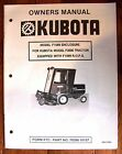 OWNERS MANUAL for KUBOTA F2000 FRONT MOWER F1089 CABIN CAB WEATHER ENCLOSURE