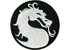 DRAGON SMALL ROUND EMBROIDERED IRON ON BIKER PATCH