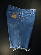 Wrangler Vintage CUTOFF JEAN SHORTS Cut Off High Waisted W 33 MEASURED Long