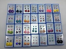 Joblot Wholesale Multicolour Earrings Ear Stud 2 Box 6 Pairs