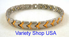 Cupid's Arrows 2 Tone Magnetic Therapy Bracelet SS32-2T 110,000 Gauss