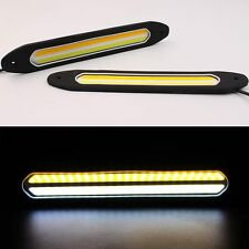 2PCS Fexible COB LED DRL Daytime Running Light Fog Driving Strip Lamp Waterproof