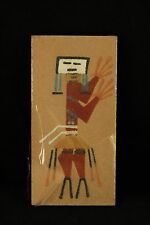 Vtg Tom Yazzie Navajo Indian Native American Sand Painting Signed Healing Art