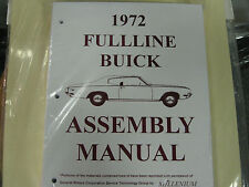 1972 BUICK FULLSIZE, RIVIERA & SKYLARK (ALL MODELS) ASSEMBLY MANUAL