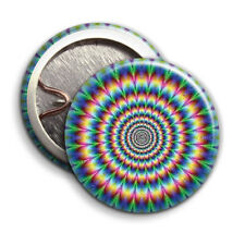 Hippy Tie Die Circle Print - Button Badge - 25mm 1 inch