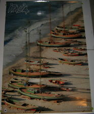 Vintage Travel/Tourist Poster Calabria Italy Ciganovic Foto Boats ENIT 1986 Nice