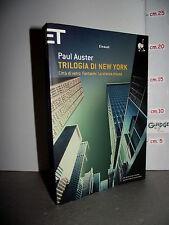 LIBRO Paul Auster TRILOGIA DI NEW YORK 16^ed.2009 Traduzione Massimo Bocchiola
