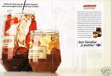 Publicité advertising 1989 (2 pages) Les Produits magasin carrefour...Confiture