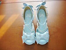 Angelic Pretty Sweet Lolita Sax Blue Open Toe Shoes Size S Approx. US 6.5 Used