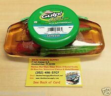 "Berkley GASHPSH4-NCH 4"" Shrimp Gulp Alive ½ Pint Fish Bait Nuclear Chicken Glow"