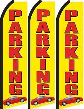 Parking  Standard Size  Swooper Flag banner  sign pk of 3