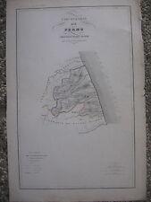 M729-MARCHE-CIRCONDARIO DI FERMO-CARTA GEOGR. VALLARDI 1841