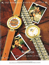 PUBLICITE  1990    BURBERRY'S   LONDON  collection montre