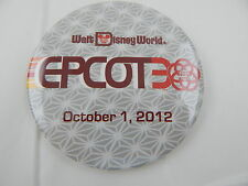 Disney Mickey Figment Epcot 30th Aniversary October 1, 2012 Button Pin Badge