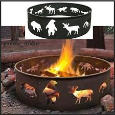 Camping Fire Ring Pit Cooking Durable Outdoor Grill Back Yard Metal Wood Burning