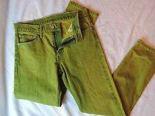 Levis Factory Jeans Sample Washed Lemon Lime Super Rare 32/31