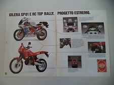 advertising Pubblicità 1989 MOTO GILERA 125 SP01 SP 01 /RC TOP RALLY