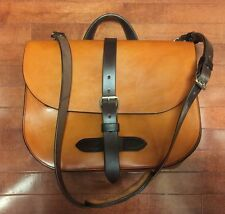 RJL LTD Bridle Leather Privateer Field Satchel Bag Handmade USA Briefcase