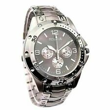 ROSRA BRAND CHRONOGRAPH STYLED MEN'S WRIST WATCH - GREY & SILVER -ITEM # RO109