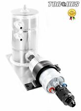 Bosch 044 Fuel Pump Swirl Surge Pot Tank Assembly AN-8 Check Valve Output Black