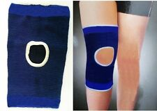 2 Large Elastic Blue Open Knee Support Pad Brace Sleeve Bandage Patella Gym L UK
