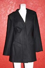 SUSANA MERCEDES LOS ANGELES BOW DETAILING BLACK COAT100% WOOL MADE IN USA SIZE 8