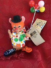 NEW NWT Exceptional ANNALEE Mobilitee (c) 1997 WhimSical CIRCUS CLOWN MOUSE