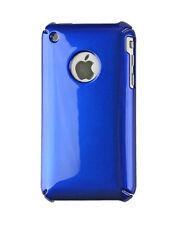 Coque arriere bleu brillant pour iPhone 3G 3GS