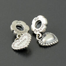 Authentic Genuine Pandora Silver My Special Sister Dangle Charm - 791383