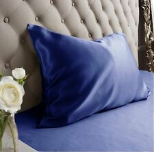 Jasmine Silk 100% Natural 19 Momme Charmeuse Silk Pillow case Navy