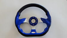 Golf Cart Steering Wheel, Color Blue fit club car, ez-go and yamaha golf cart